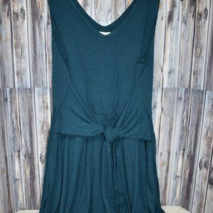 Soma Knot Front Dress New Large Teal